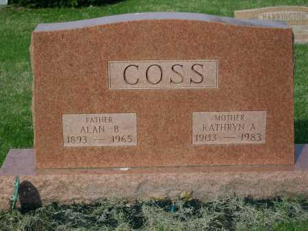COSS, ALAN B. - Franklin County, Ohio | ALAN B. COSS - Ohio Gravestone Photos