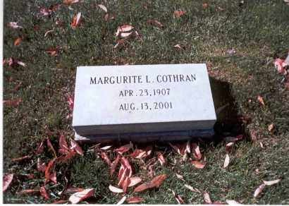 COTHRAN, MARGURITE L. - Franklin County, Ohio | MARGURITE L. COTHRAN - Ohio Gravestone Photos