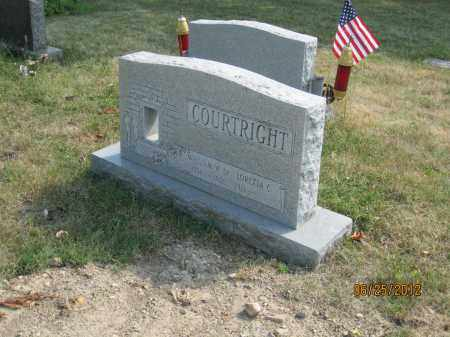 HUFF COURTRIGHT, LORETTA C - Franklin County, Ohio | LORETTA C HUFF COURTRIGHT - Ohio Gravestone Photos