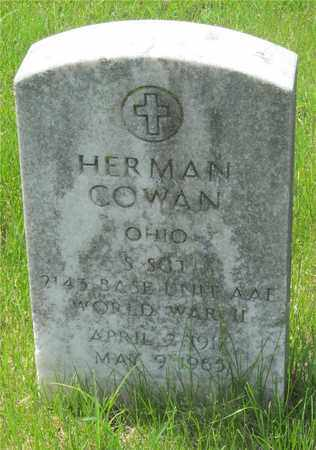 COWAN, HERMAN - Franklin County, Ohio | HERMAN COWAN - Ohio Gravestone Photos