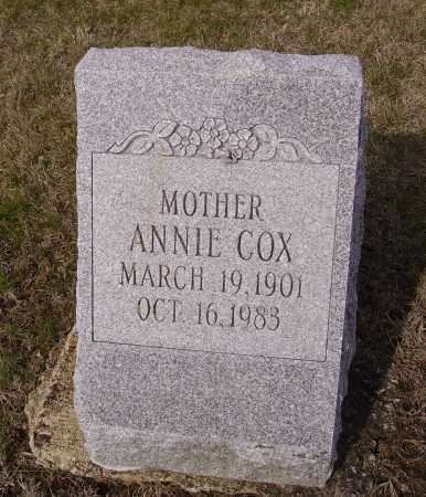 COX, ANNIE - Franklin County, Ohio | ANNIE COX - Ohio Gravestone Photos
