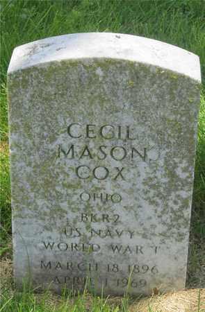COX, CECIL MASON - Franklin County, Ohio | CECIL MASON COX - Ohio Gravestone Photos