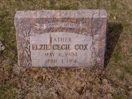 COX, ELZIE CECIL - Franklin County, Ohio | ELZIE CECIL COX - Ohio Gravestone Photos