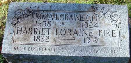 PIKE COY, EMMA LORAINE - Franklin County, Ohio | EMMA LORAINE PIKE COY - Ohio Gravestone Photos