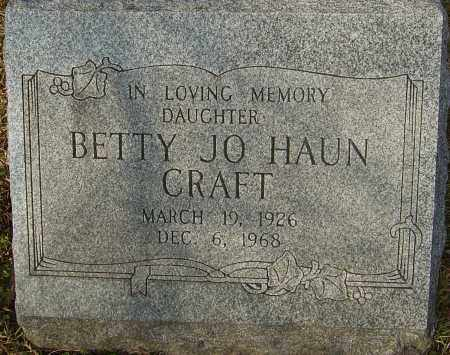 HAUN CRAFT, BETTY JO - Franklin County, Ohio | BETTY JO HAUN CRAFT - Ohio Gravestone Photos