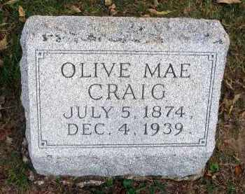 CRAIG, OLIVE MAE - Franklin County, Ohio | OLIVE MAE CRAIG - Ohio Gravestone Photos