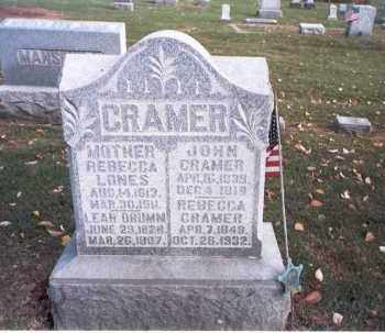 CRAMER, REBECCA - Franklin County, Ohio | REBECCA CRAMER - Ohio Gravestone Photos