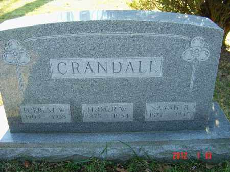 CRANDALL, HOMER - Franklin County, Ohio | HOMER CRANDALL - Ohio Gravestone Photos