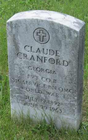 CRANFORD, CLAUDE - Franklin County, Ohio | CLAUDE CRANFORD - Ohio Gravestone Photos
