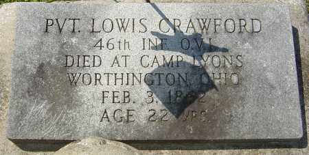 CRAWFORD, LOWIS - Franklin County, Ohio | LOWIS CRAWFORD - Ohio Gravestone Photos
