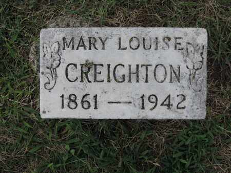 CREIGHTON, MARY LOUISE - Franklin County, Ohio | MARY LOUISE CREIGHTON - Ohio Gravestone Photos
