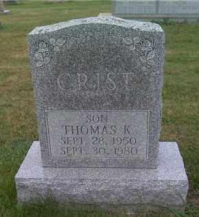 CRIST, THOMAS K. - Franklin County, Ohio | THOMAS K. CRIST - Ohio Gravestone Photos
