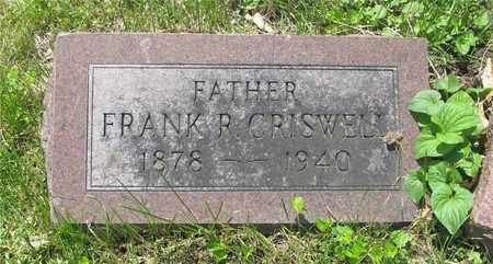 CRISWELL, FRANK R. - Franklin County, Ohio | FRANK R. CRISWELL - Ohio Gravestone Photos