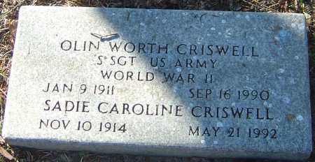 CRISWELL, OLIN WORTH - Franklin County, Ohio | OLIN WORTH CRISWELL - Ohio Gravestone Photos