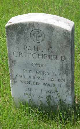 CRITCHFIELD, PAUL C. - Franklin County, Ohio | PAUL C. CRITCHFIELD - Ohio Gravestone Photos