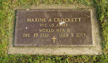 CROCKETT, MAXINE A. - Franklin County, Ohio | MAXINE A. CROCKETT - Ohio Gravestone Photos