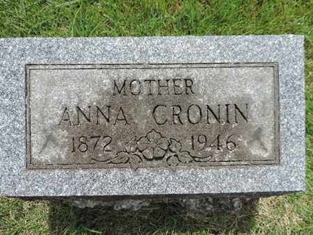 CRONIN, ANNA - Franklin County, Ohio | ANNA CRONIN - Ohio Gravestone Photos