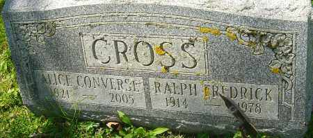 CROSS, RALPH FREDRICK - Franklin County, Ohio | RALPH FREDRICK CROSS - Ohio Gravestone Photos