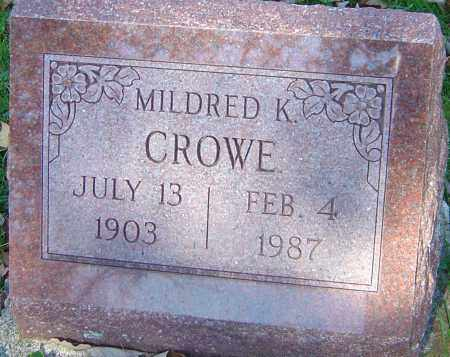 CROWE, MILDRED K - Franklin County, Ohio | MILDRED K CROWE - Ohio Gravestone Photos