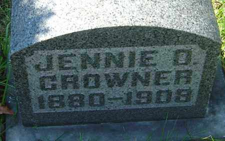 CROWNER, JENNIE D - Franklin County, Ohio | JENNIE D CROWNER - Ohio Gravestone Photos