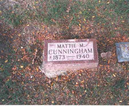 CUNNINGHAM, MATTIE M. - Franklin County, Ohio | MATTIE M. CUNNINGHAM - Ohio Gravestone Photos