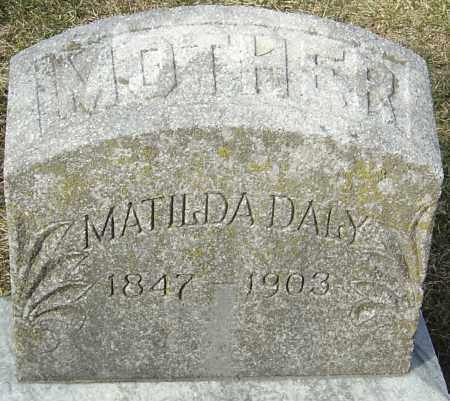 DALY, MATILDA - Franklin County, Ohio | MATILDA DALY - Ohio Gravestone Photos