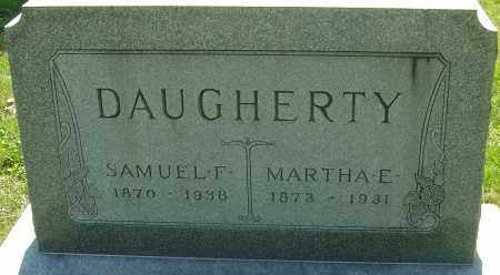 DAUGHERTY, MARTHA E - Franklin County, Ohio | MARTHA E DAUGHERTY - Ohio Gravestone Photos