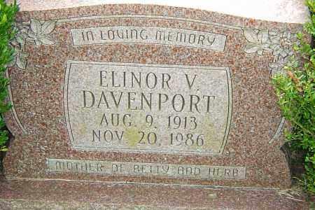DAVENPORT, ELINOR - Franklin County, Ohio | ELINOR DAVENPORT - Ohio Gravestone Photos
