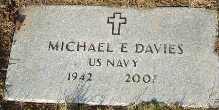 DAVIES, MICHAEL E - Franklin County, Ohio | MICHAEL E DAVIES - Ohio Gravestone Photos