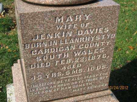 DAVIES, MARY - Franklin County, Ohio | MARY DAVIES - Ohio Gravestone Photos