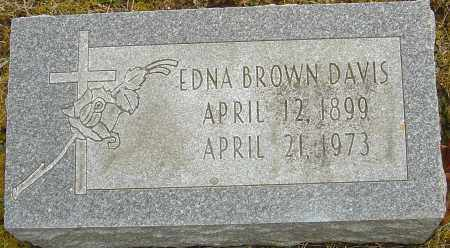 BROWN DAVIS, EDNA - Franklin County, Ohio | EDNA BROWN DAVIS - Ohio Gravestone Photos