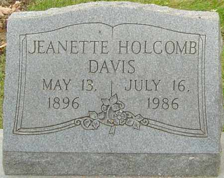 HOLCOMB DAVIS, JEANETTE - Franklin County, Ohio | JEANETTE HOLCOMB DAVIS - Ohio Gravestone Photos
