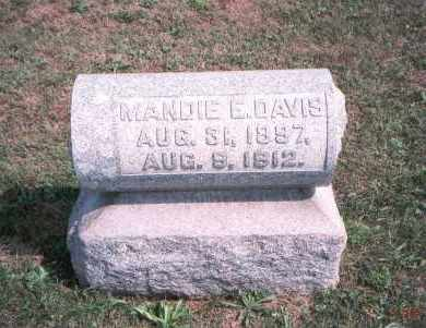 DAVIS, MANDIE E. - Franklin County, Ohio | MANDIE E. DAVIS - Ohio Gravestone Photos