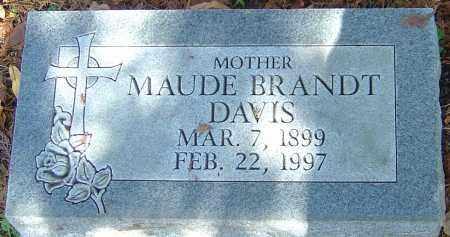 BRANDT DAVIS, MAUDE - Franklin County, Ohio | MAUDE BRANDT DAVIS - Ohio Gravestone Photos