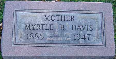 DAVIS, MYRTLE B - Franklin County, Ohio | MYRTLE B DAVIS - Ohio Gravestone Photos