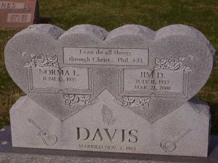 DAVIS, JIM D. - Franklin County, Ohio | JIM D. DAVIS - Ohio Gravestone Photos