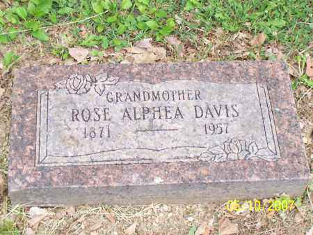 DEVORE DAVIS, ROSE ALPHEA - Franklin County, Ohio | ROSE ALPHEA DEVORE DAVIS - Ohio Gravestone Photos