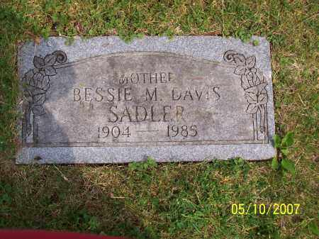 DAVIS SADLER, BESSIE MARIE - Franklin County, Ohio | BESSIE MARIE DAVIS SADLER - Ohio Gravestone Photos