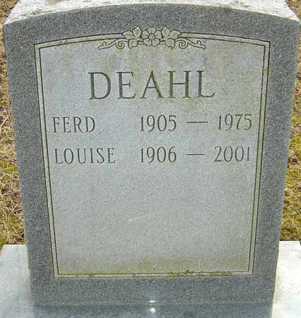DEAHL, FERD - Franklin County, Ohio | FERD DEAHL - Ohio Gravestone Photos