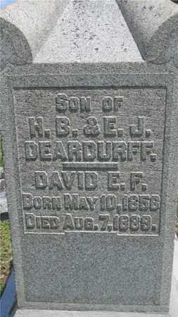 DEARDURFF, DAVID E. F. - Franklin County, Ohio | DAVID E. F. DEARDURFF - Ohio Gravestone Photos