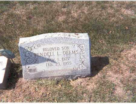 DEEMS, WENDELL L. - Franklin County, Ohio | WENDELL L. DEEMS - Ohio Gravestone Photos