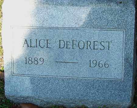 DEFOREST, ALICE - Franklin County, Ohio | ALICE DEFOREST - Ohio Gravestone Photos