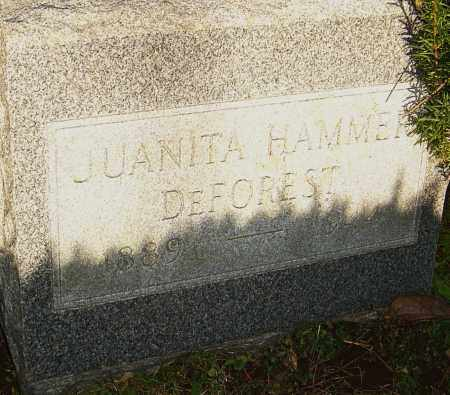 HAMMER DEFOREST, JUANITA - Franklin County, Ohio | JUANITA HAMMER DEFOREST - Ohio Gravestone Photos