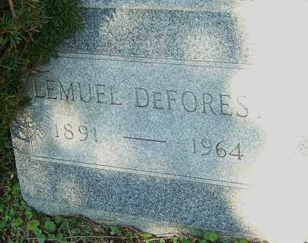 DEFOREST, LEMUEL - Franklin County, Ohio | LEMUEL DEFOREST - Ohio Gravestone Photos