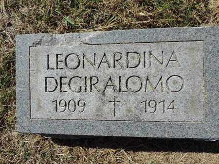 DEGIRALOMO, LEONARDINA - Franklin County, Ohio | LEONARDINA DEGIRALOMO - Ohio Gravestone Photos