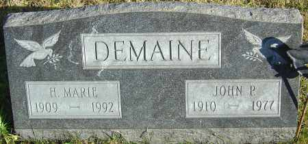 DEMAINE, JOHN P - Franklin County, Ohio | JOHN P DEMAINE - Ohio Gravestone Photos