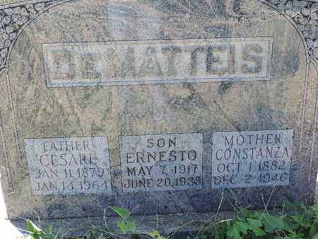 DEMATTEIS, ERNESTO - Franklin County, Ohio | ERNESTO DEMATTEIS - Ohio Gravestone Photos