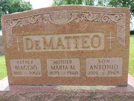 DEMATTEO, ANTONIO - Franklin County, Ohio | ANTONIO DEMATTEO - Ohio Gravestone Photos