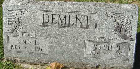 DEMENT, ELMER L - Franklin County, Ohio | ELMER L DEMENT - Ohio Gravestone Photos