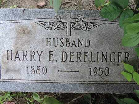 DERFLINGER, HARRY E. - Franklin County, Ohio | HARRY E. DERFLINGER - Ohio Gravestone Photos